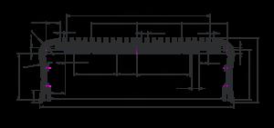 ПРК - Эскиз профиля для светодиодных светильников AK006